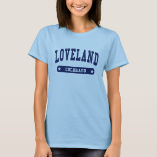 Loveland Colorado College Style tee shirts
