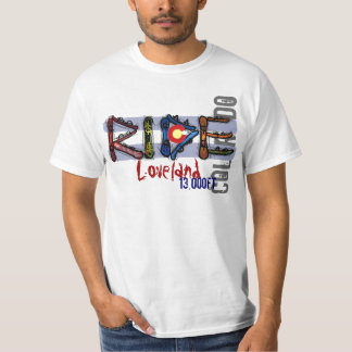 Loveland Colorado snowboard elevation value tee