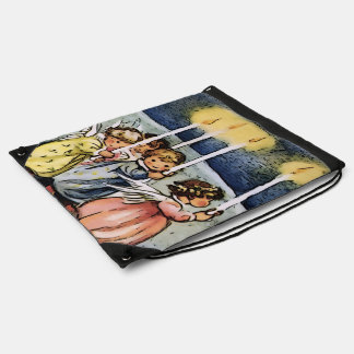lovely angels drawstring bag
