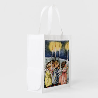 lovely angels reusable grocery bag