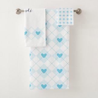Lovely Argyle Bath Towel Set