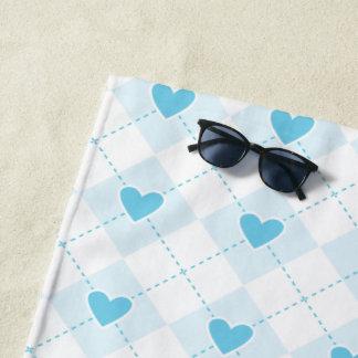 Lovely Argyle Beach Towel