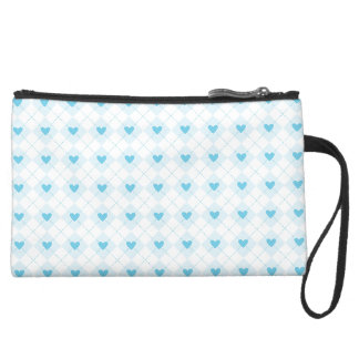 Lovely Argyle Suede Wristlet