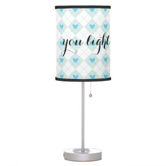 Lovely Argyle Table Lamp