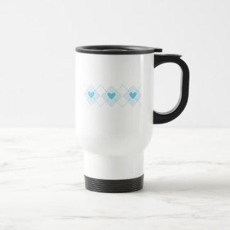 Lovely Argyle Travel Mug