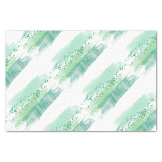 Lovely Artsy Green Watercolor Christmas Tissue Paper