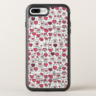 Lovely Assorted Hearts and Icons   Phone Case
