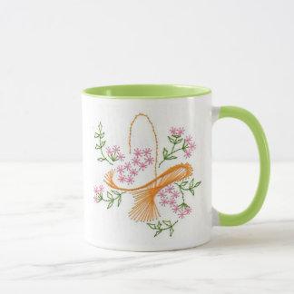 Lovely Basket of Flowers Mug