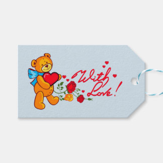 Lovely bear greetings gift tags