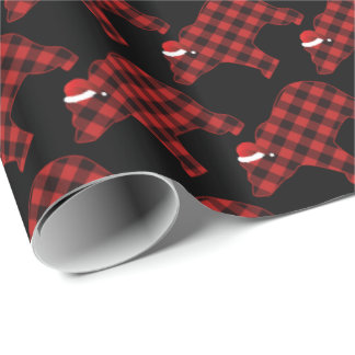 Lovely Bear Silhouette Christmas Trendy Pattern Wrapping Paper