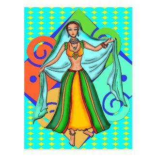 Lovely Belly Dancing Girl Postcard
