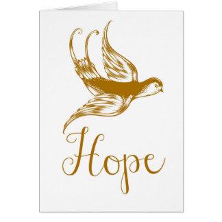 Lovely Bird Hope Card