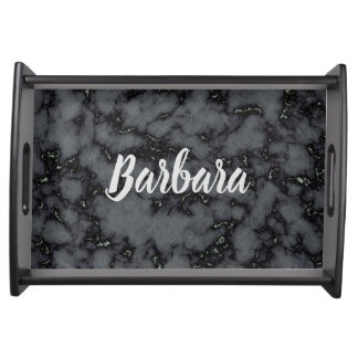 Lovely Black Personalize Serving Tray