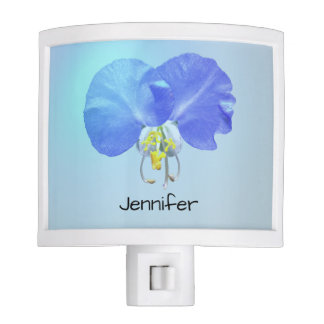 Lovely Blue Dayflower Girl's Room Custom Floral Night Lites