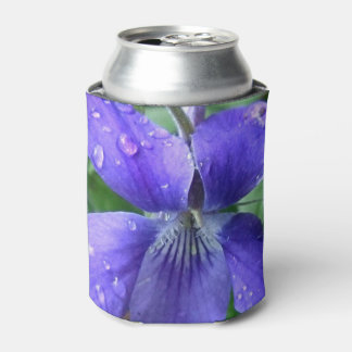 Lovely blue flower can cooler