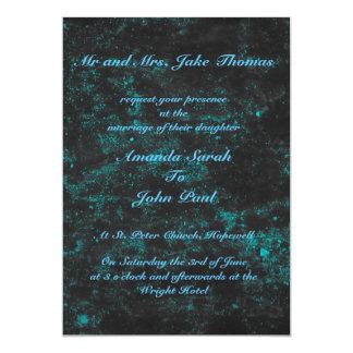 Lovely Blue Square Wedding Invitations