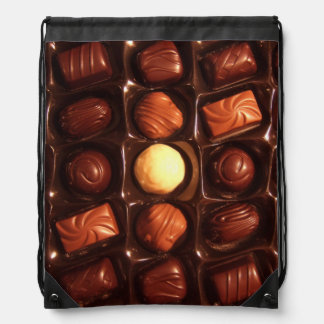 Lovely Box of Chocolates Drawstring Bags