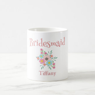 Lovely bridesmaid Floral Coffee Mug