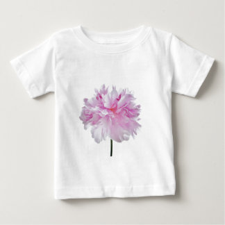 Lovely Bright wink Peony Flower Photo Baby T-Shirt