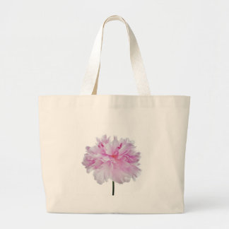 Lovely Bright wink Peony Flower Photo Large Tote Bag