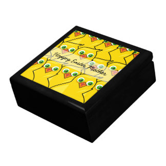 Lovely Bright Yellow Easter Chickens Gift Box