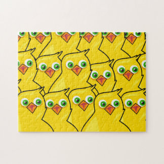 Lovely Bright Yellow Easter Chickens Jigsaw Puzzle