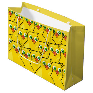 Lovely Bright Yellow Easter Chickens Large Gift Bag