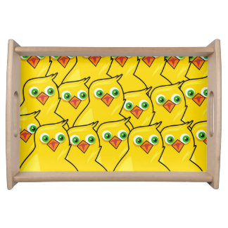 Lovely Bright Yellow Easter Chickens Serving Tray