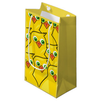 Lovely Bright Yellow Easter Chickens Small Gift Bag