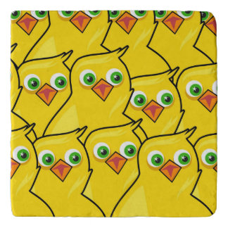 Lovely Bright Yellow Easter Chickens Trivet
