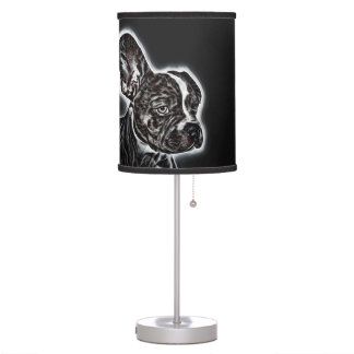 Lovely Buddy Black and White Table Lamp