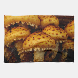 Lovely Bunch of Wild Mushrooms Kitchen Towel