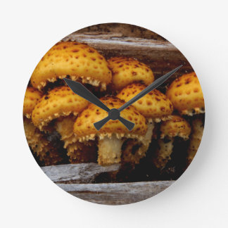 Lovely Bunch of Wild Mushrooms Wall Clocks