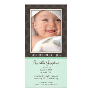 Lovely Bundle of Joy Birth Announcement :: mint Photo Cards