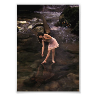Lovely Butterfly Pond Fairy Photo print