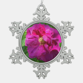 Lovely Carnation for the Tree Snowflake Pewter Christmas Ornament
