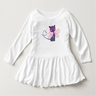 Lovely Cartoon Cat Dress