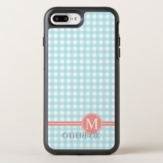 Lovely Checkered Blue Monogram | Otterbox Case