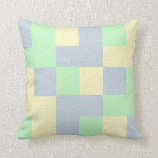 Lovely Checkered Pastel Throw Pillow