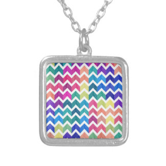 Lovely Chevron Silver Plated Necklace