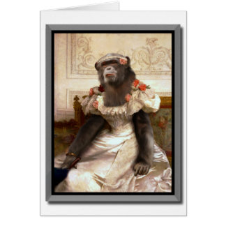 Lovely Chimp in Gown Card