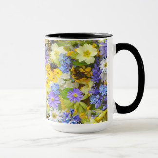 Lovely Coffee Mug In Spring Flowers Design