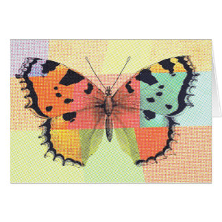Lovely Colorful Butterfly Card