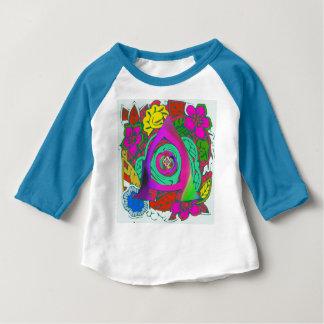Lovely colorful Floral Monogrammed logo design Baby T-Shirt