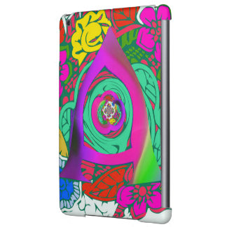 Lovely colorful Floral Monogrammed logo design Case For iPad Air