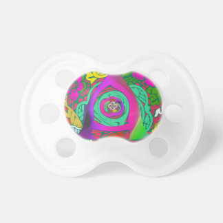 Lovely colorful Floral Monogrammed logo design Pacifier