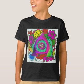Lovely colorful Floral Monogrammed logo design T-Shirt