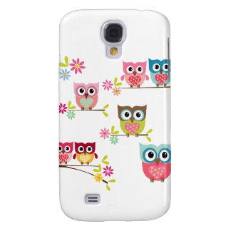 Lovely Colorful Owls for Samsung