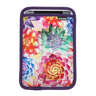 Lovely Colorful Succulent Plant Pattern iPad Mini Sleeve