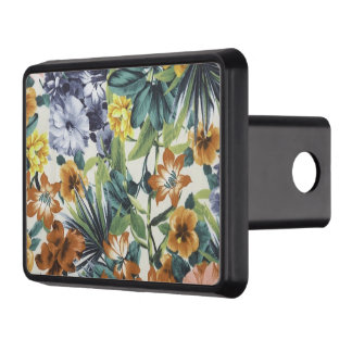 Lovely Colors Floral Trailer Hitch Cover